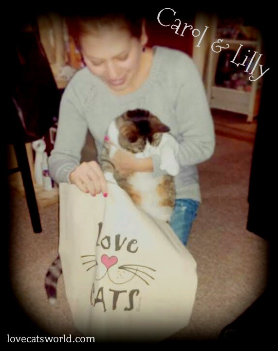 """Thank you soo much for our tote!!! We love it!!! Mommy and Lilly are both very happy =^.^="""