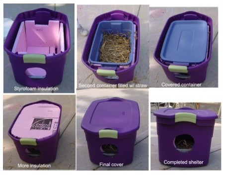 DIY Insullated shelter for homeless cats