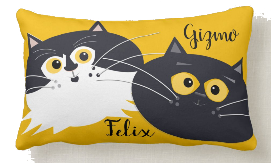 felix-gizmo-custom-illustration-cats-on-personalized-pillow