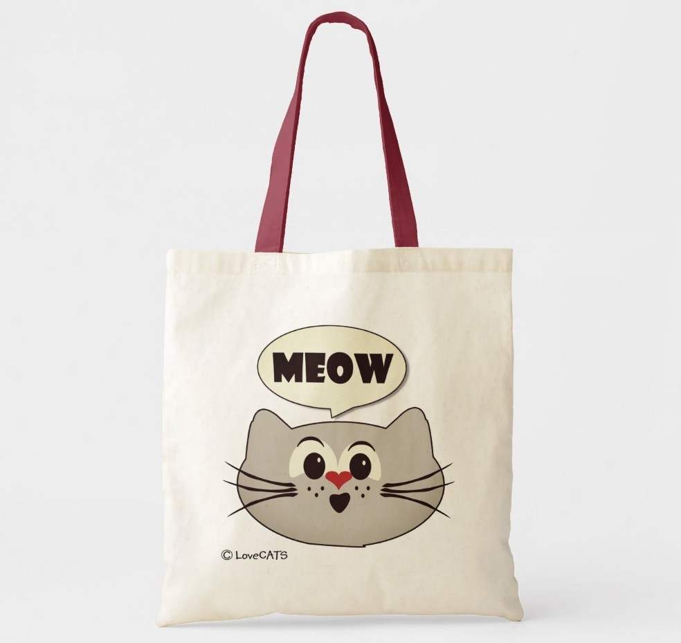 Meow Tote Bag. Purrfect gift for cat moms.