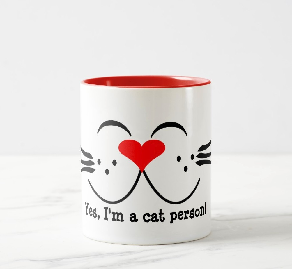 YES, I'm a cat person mug. Purrfect gift for cat people.