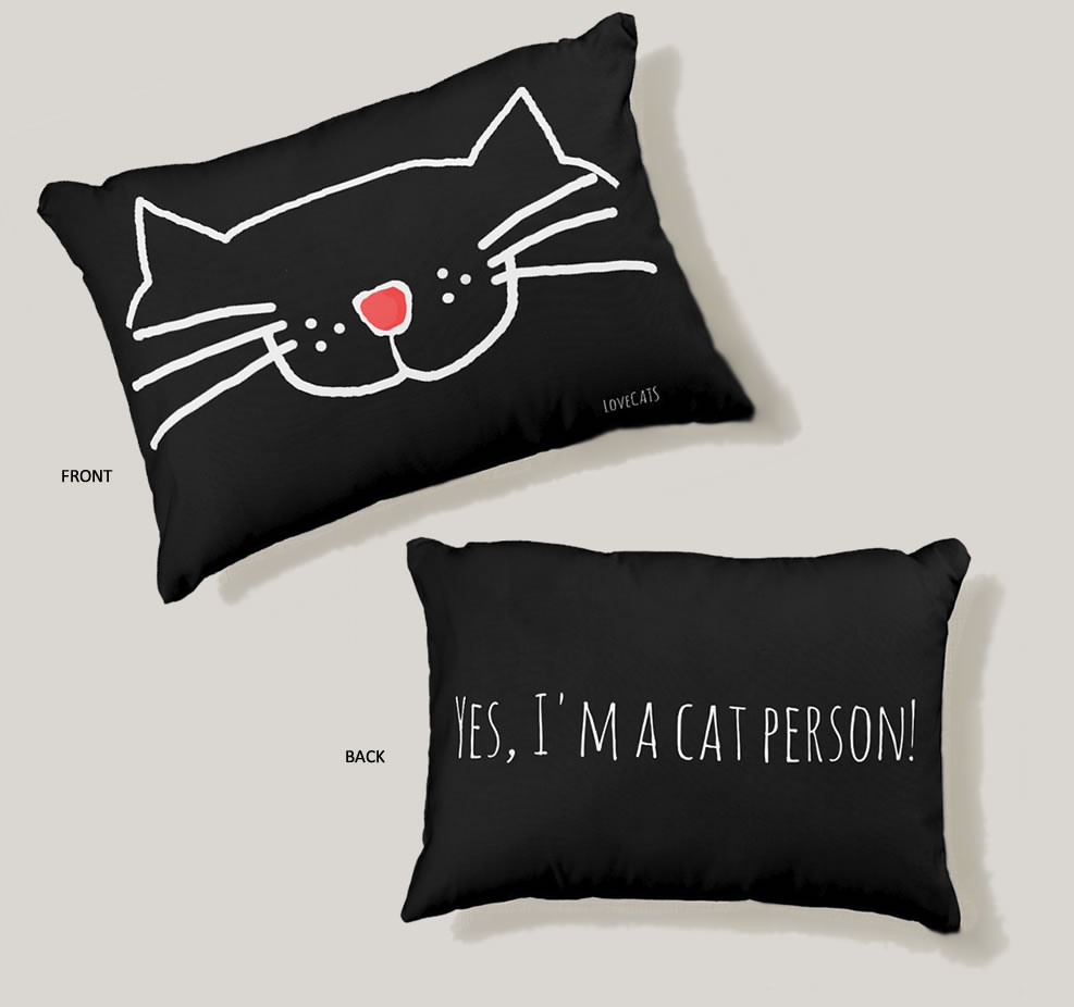 Yes, I'm a cat person Accent Pillow. Purrfect gift for cat moms.