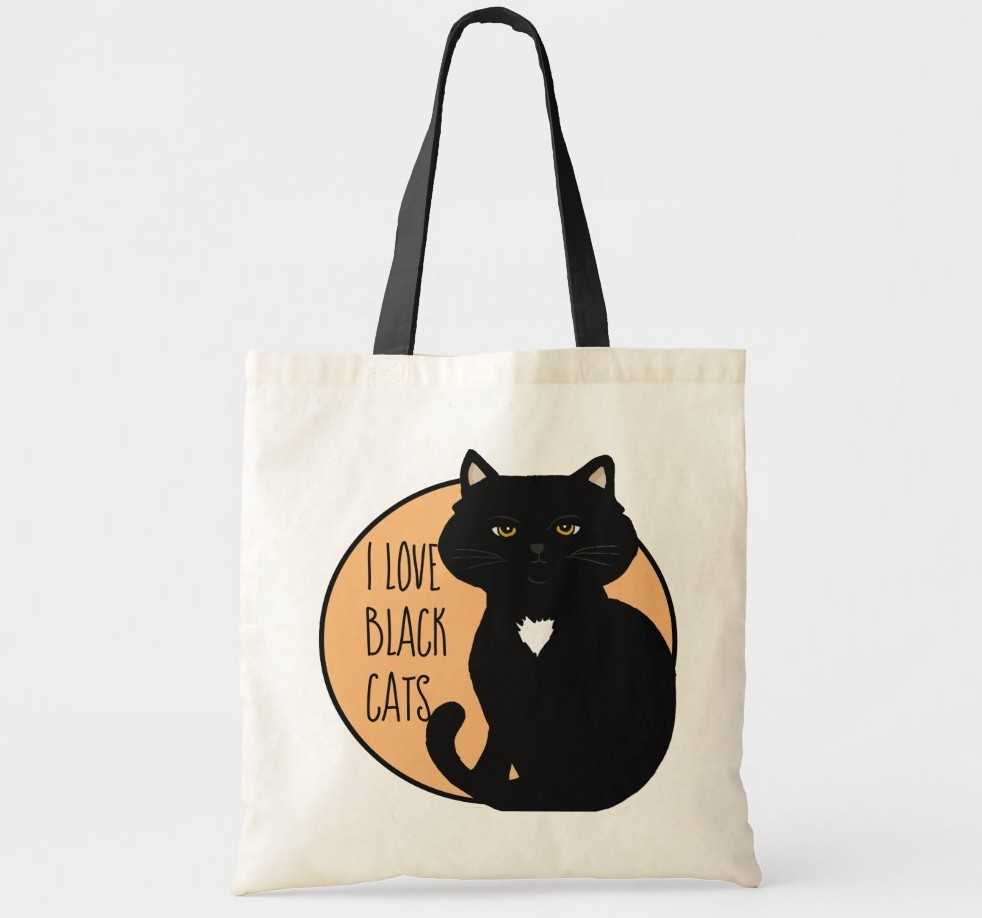 I love Black CatsTote. Purrfect gift for cat moms.